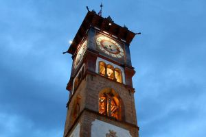 Cavalese clock tower by stefeli-reloaded