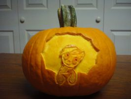Rainbow Dash Mini Pumpkin (unlit) by elviswjr