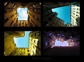 City pieces of sky. by Bunnis