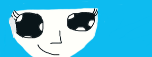 1st anime face ~ using a trackpad!~ by mermaidgirl013