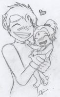 Beast boy and his baby girl by LightOfTehDead