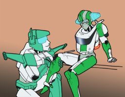 Pre-War Topspin and Wheeljack by ajremix