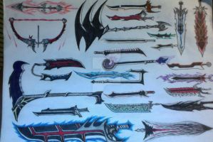 UPGRADED Swords Set 1 by IcarusxR66Yx