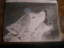 Howling Wolf Pastel by ldybg95