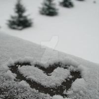 Heart snow by xTive