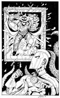 Dr. Fate and Question Inked by garystrange
