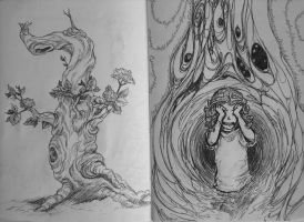 Sketchbook project pages 3-4 by Darkheartz