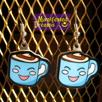 Latte Cup Earrings by ManifestedDreams