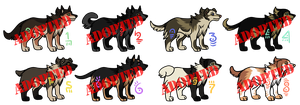 Canine Adoptables CLOSED by Yipped