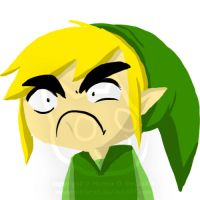 ANNOYED LINK by MiyomotheCat