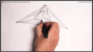 Learn how to draw three point perspective 004 by drawingcourse