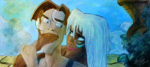 Milo and Kida by Lally-Hime