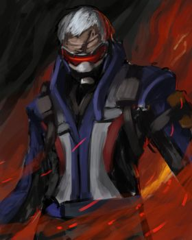Soldier 76 - May sketch a day by Konnee