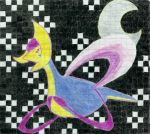 Cresselia in a Chess Night Sky by andres19989