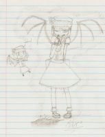 School Doodles 4 - Scarlet by TheLOL