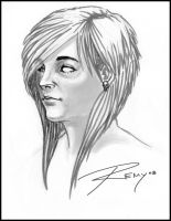 Haircut Concept Sketch by Drawingremy