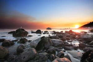 Smokey Malibu Sunset by CgProPhoto