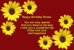 Happy Birtday Teresa by hiaamir