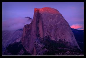 Half Dome Sunset by chasingmagiclight