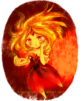 Flame princess by AmongOtaku