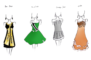 Band Geek Prom Dresses 6 by theghostlyartist