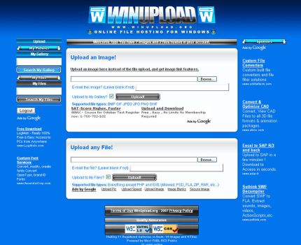 WinUpload.org Theme by Metal-CX