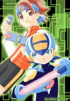 Netto and Rockman by Julianita