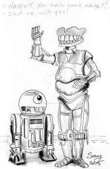 R2-D2 and C-3PO by michelsoucyjunior