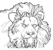 Lion Panting by paime77