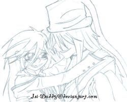 sketch: Grell x Undertaker by Isi-Daddy