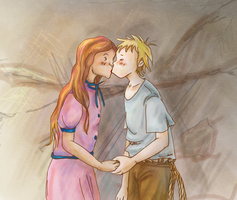 Thier first kiss :) by evka8D
