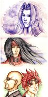 Final Fantasy Watercolors by foxysquid