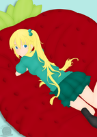 Strawberry Pillow by Blackmoonrose13