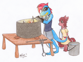 Firing Up the Kiln by Meta-Akira