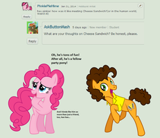 Question 18: Cheese Sandwich? by AskPinkiePieSweets