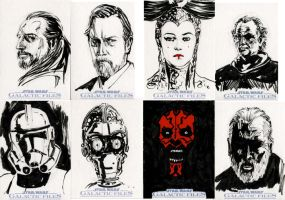 Star Wars Sketch Cards - Prequel I by clayrodery