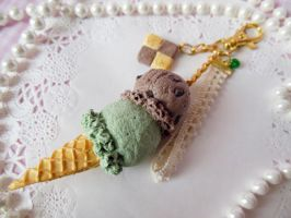 Chocolate Green Tea Double Scoop Ice Cream by KeoDear
