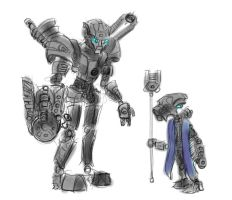 Bionicle - Toa and Turaga of Magnetism by HJTHX1138