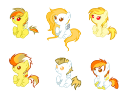 SnowflakeXSpitfire ship adopts (CLOSED) by Monster-Drool