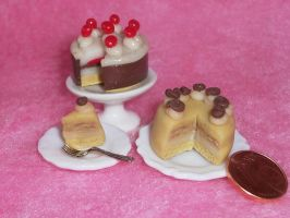 Polymer clay cakes2 by ValerianaSolaris