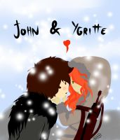 Jhon Snow and Ygritte by Axcido