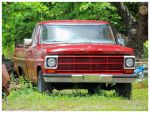 An Old Red Ford Truck by TheMan268