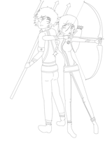 The Hunger Games 2(Catching fire)KatnissandFinnick by KvotheENDV