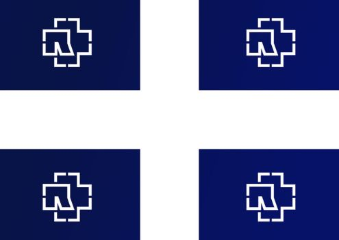 Quebec n Rammstein Flag by lordzeppo