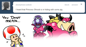 Ask Toad - Pig? by pocket-arsenal