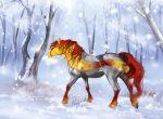 Winter forest - Firebringer by Percyvelle
