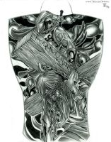 'for my sins' back piece by haink