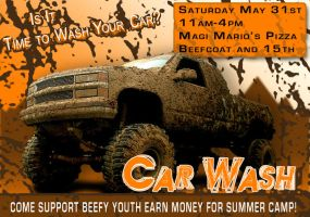Carwash Flier by beefcoat