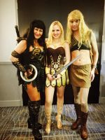 Xena, Gabrielle, and Pompey by sand-snake