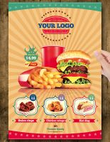 Fast Food Flyer Menu Restaurant A4 by jellygraphics